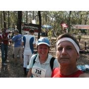 Rodney and Kathy at the finish of a NOL event