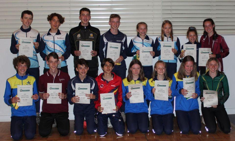 Mikaela and Grant named in Australian Schools Honour Team
